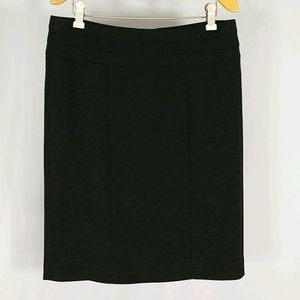 CAbi charcoal gray pointe knit skirt. Sz 6